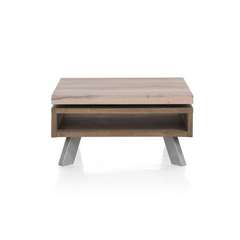 TABLE BASSE 80 X 80 X 39 CM 1 NICHE PLATEAU MOBILE