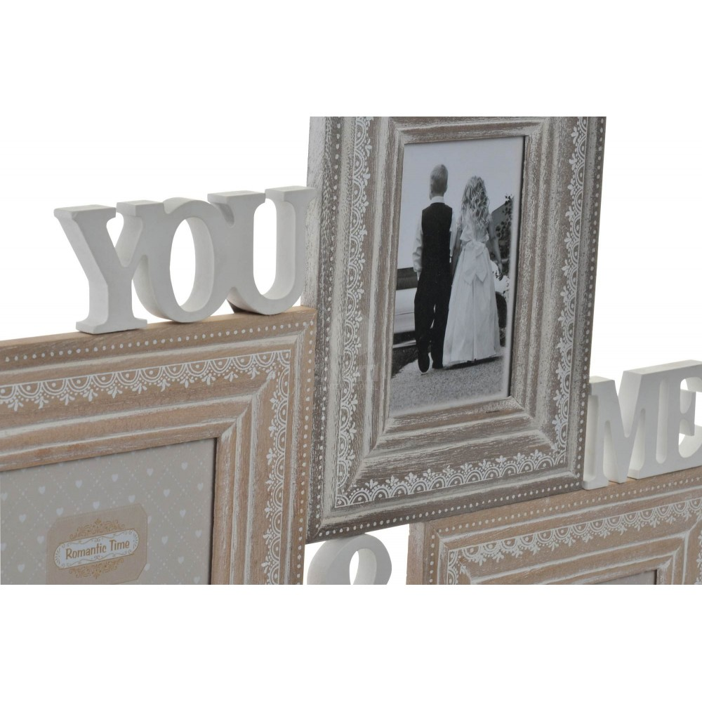 cadre photos mural charme you me 4 vues format 10 x 13 cm. Black Bedroom Furniture Sets. Home Design Ideas