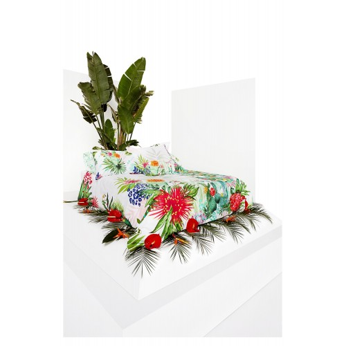HOUSSE DE COUETTE REVERSIBLE PSYCHOTROPICAL 250 X 200 CM 2 taies 50 x 80 cm