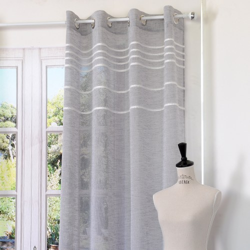 VOILAGE ANTIC 135X260CM GRIS POLYESTER