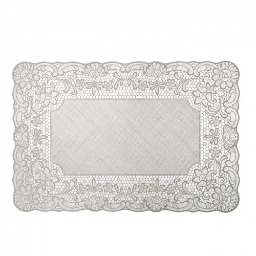 SET DE TABLE GRIS CLAIR DENTELLE
