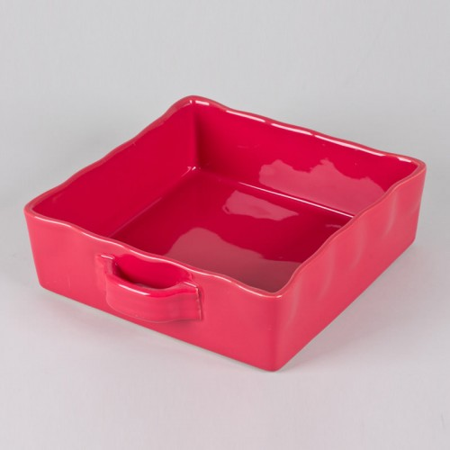 PLAT FOUR CARRE 23X23 GUSTO ROUGE