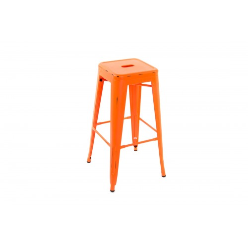 TABOURET METAL INDUS ORANGE 76X43