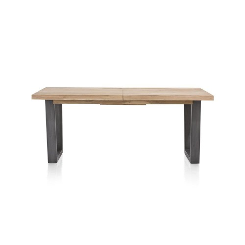 TABLE CHARLESTON ALLONGE 190/240 X 100 X 77 KIKAR PIED METAL