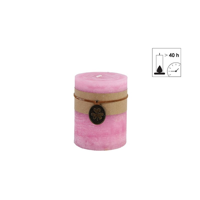 BOUGIE PILIER 7.3X9.5 ROSE