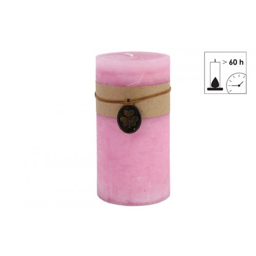 BOUGIE PILIER 7.3X14 ROSE