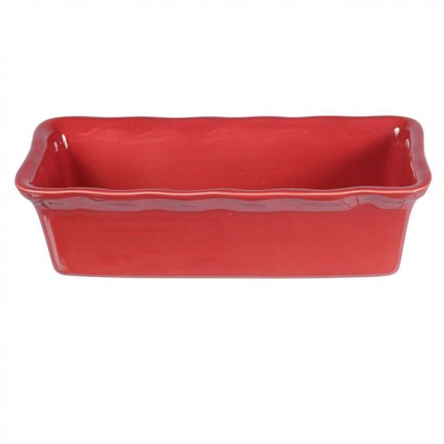PLAT A FOUR CAKE ROUGE  GRES 26.5 X 12.5 X 7.5 CM