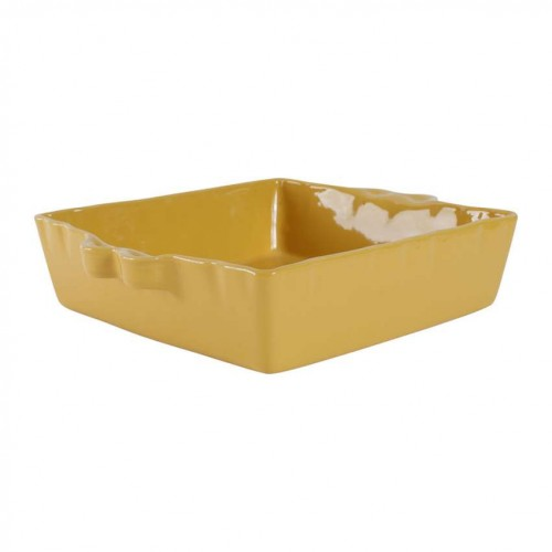 PLAT A FOUR CARRE CURRY GRES 25 X 25 X 7.5 CM