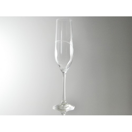 VERRE FLUTE A CHAMPAGNE GRACE GRAVE D'UN DECOR 190 ML