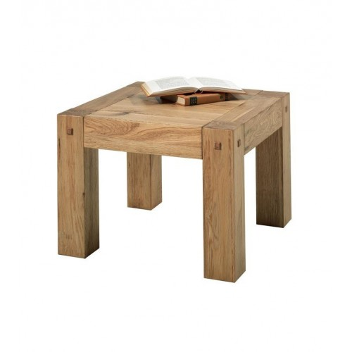 TABLE BASSE SIMPLE PLATEAU CARREE 60 X 60 X 45 cm  CHENE MASSIF HUILE