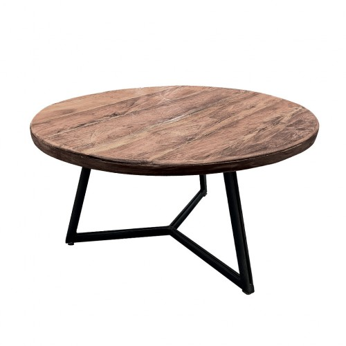 TABLE BASSE EN TECK NATUREL RECYCLE 55 X 55 X 30 CM