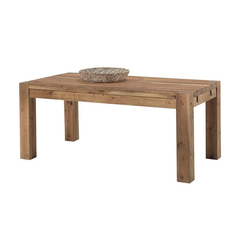 TABLE REPAS 180 X 90 X 76 cm  CHENE MASSIF HUILE