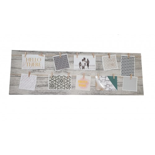 TABLEAU CADRE PHOTOS RECTANGLE 3 FICELLES 30 x 90 x cm