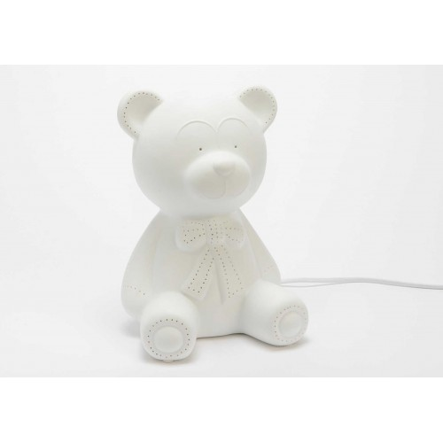 LAMPE OURS BLANC 25 x 18 x 19 cm