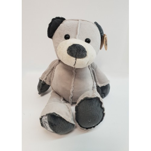 PELUCHE OURS GRIS COUTURES APPARENTES  CODY  33  cm