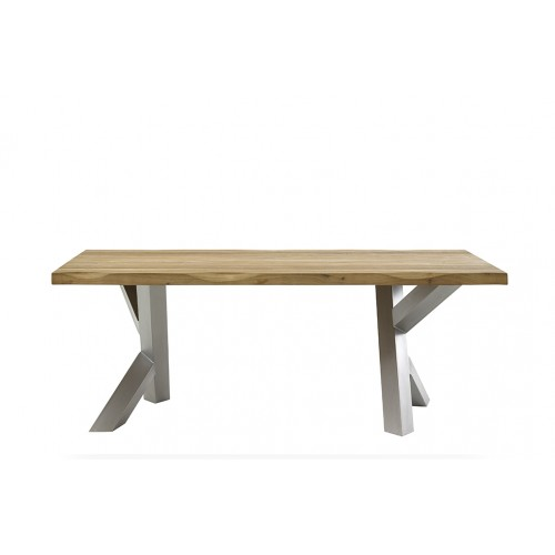 TABLE AJEET 220 X 100 X 77 KIKAR PIED ARBRE