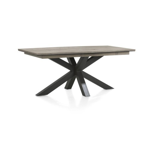 TABLE SAVILO PIEDS METAL DESSUS MONTESSA GREY ALLONGE 180/240 X 105 X 77 CM