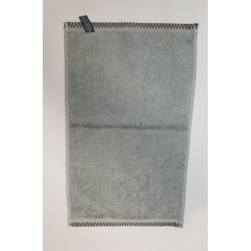 SERVIETTE INVITE 100pourcent COTON 550 GRS 30 X 50 GRAND GRIS