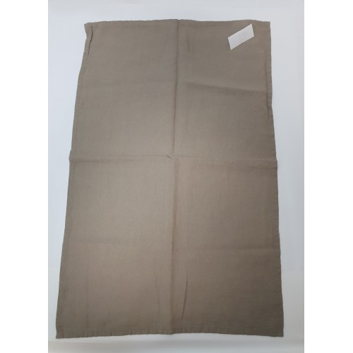 TORCHON CARACTERE 100% LIN 50 X 70 TAUPE
