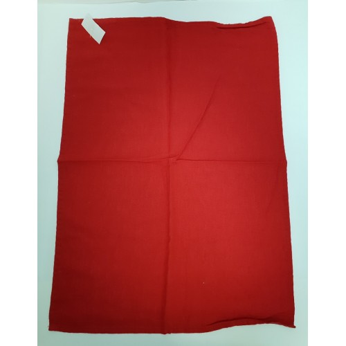 TORCHON CARACTERE 100% LIN 50 X 70 ROUGE