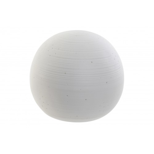 LAMPE SPHERE CERAMIQUE POINTS AJOURES 17 X 15.5 CM
