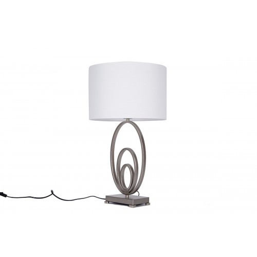 LAMPE METAL TRIPLE CERCLES 72 X 38 CM
