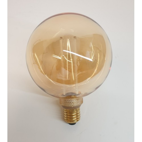 AMPOULE LED RETRO VINTAGE SPHERIQUE COLORIS AMBRE E27 4 W 12.5 X 16.5 CM 200LM