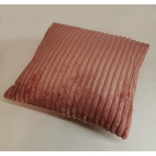 COUSSIN A COTES ROSE CLAIR 45 X 45 CM 100 % POLYESTER