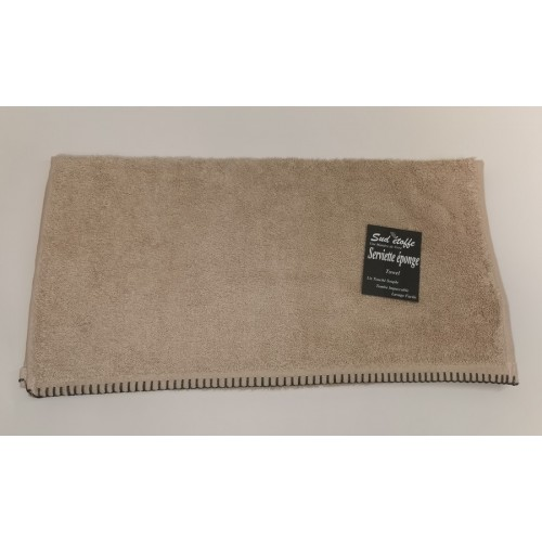 SERVIETTE 100 % COTON 550 GRS 50x 100 GRAND HOTEL NATURAL