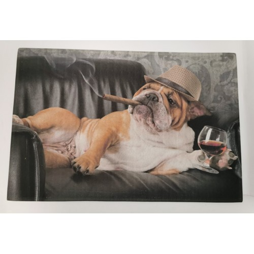 TAPIS SOL ANTIDERAPANT BOULEDOGUE ANGLAIS 50 X 75 CM