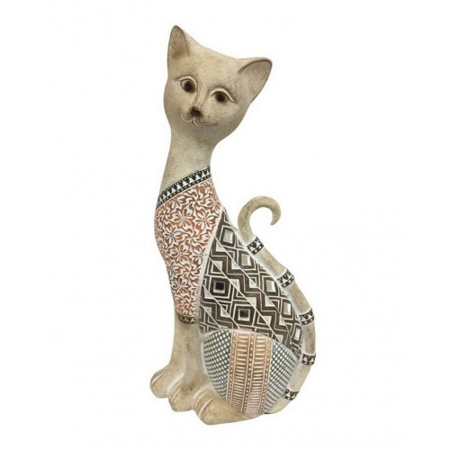 CHAT ASSIS RESINE PATCHWORK 7 X 12.5 X 27.5 CM