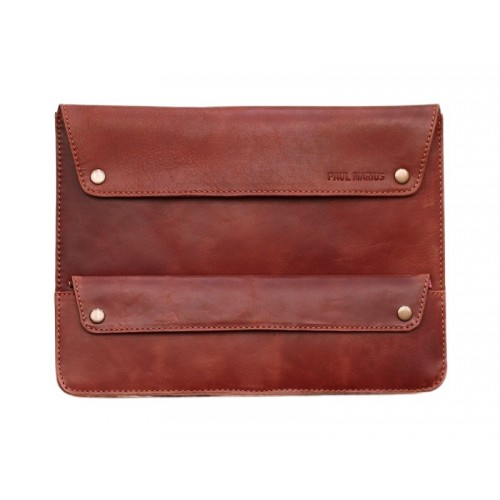POCHETTE POUR TABLETTE PAUL MARIUS EN CUIR NATUREL 31 X 23 CM