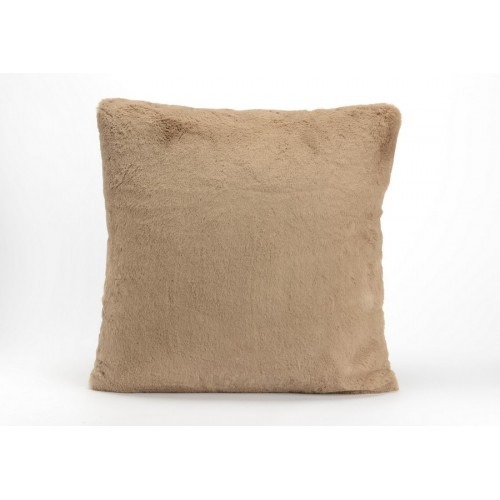 COUSSIN LUXE COULEUR TAUPE 50 X 50 CM