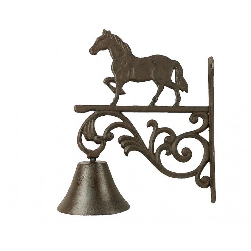 CLOCHE MURALE ANTIQUE CHEVAL