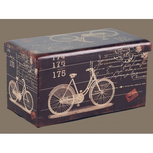 BANC COFFRE ROBINS BIKE REPLIABLE 76.5X41X42 CM DE HAUTEUR