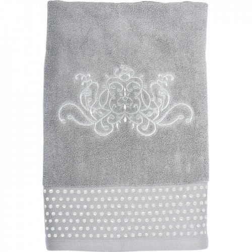 SERVIETTE DE TOILETTE DOUCE ARABESQUE GRISE 50X100