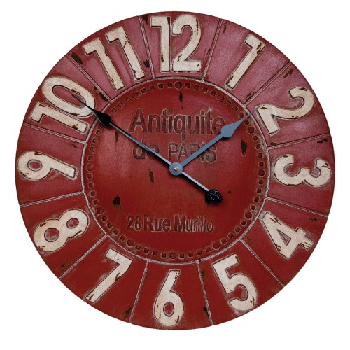 HORLOGE ROUGE 60 CM ANTIQUITE DE PARIS