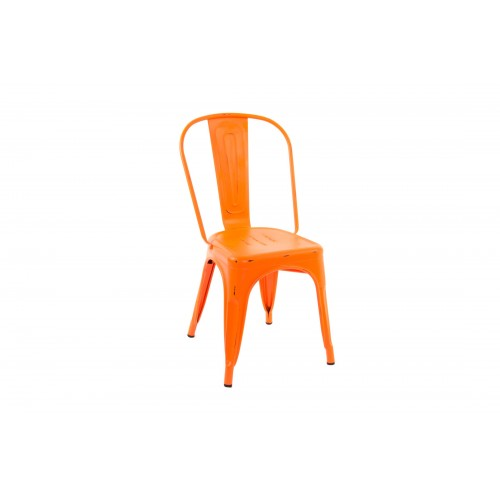 CHAISE INDUS EN METAL ORANGE