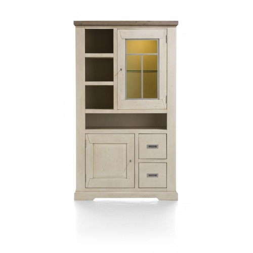 MEUBLE HAUT CABANA 3 NICHES 1 PORTE VITREE 190X110X45